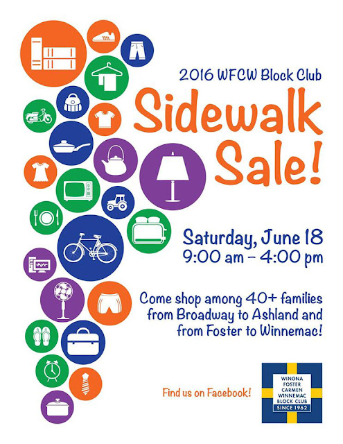 uptown update shopper s weekend wfcw block club sidewalk sale