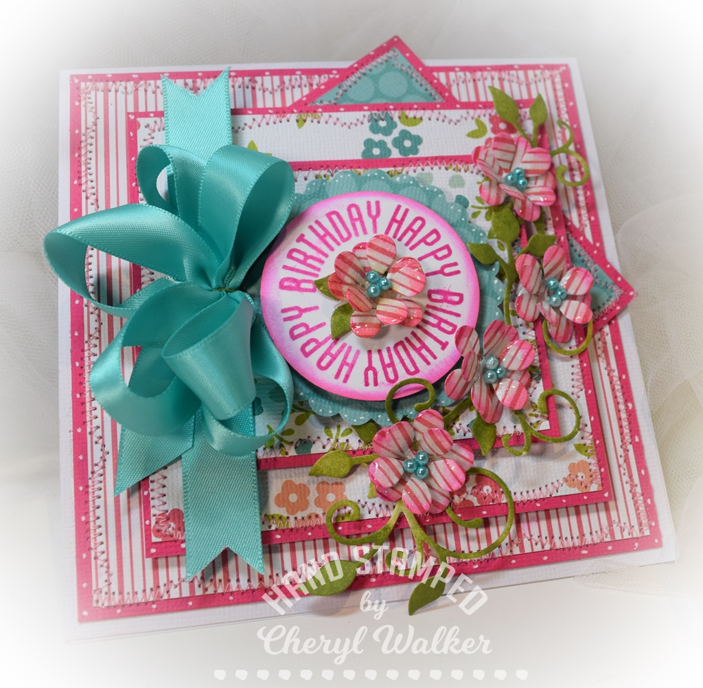 Sweeet designs by cheryl happy birthday todays card is a super fun birthday card created for really reasonable ribbon using the beautiful satin ribbon that came in last months izmirmasajfo