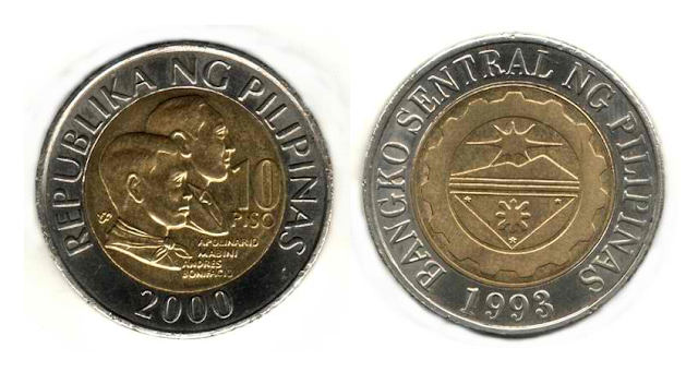 Gold In 10-Peso Philippine Coin