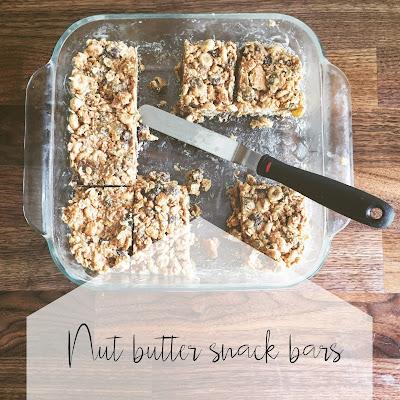 Nut Butter Snack Bars Recipe