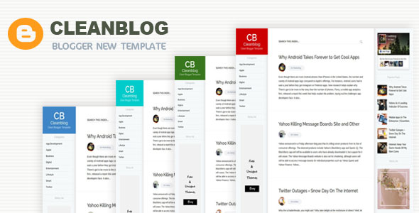 Responsive Blogging Sticky Minimal AMP Responsive Blogger Template