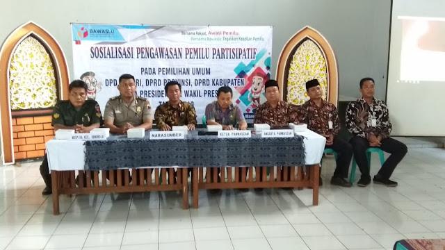 Sinegritas TNI - Polri dalam Kegiatan Sosialisasi Pengawasan Pemilu Partisipatif Tahun 2019.