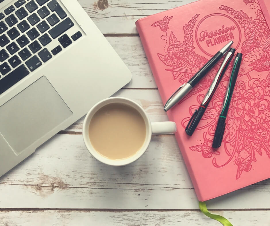 Why Journaling Is Good For Self Care | My Passion Planner, a coffee, and my computer are all I need for some self care.