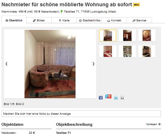 wohnungsbetrugblogspotcom christophbuchberger1webde Talallee 71 71636 Ludwigsburg