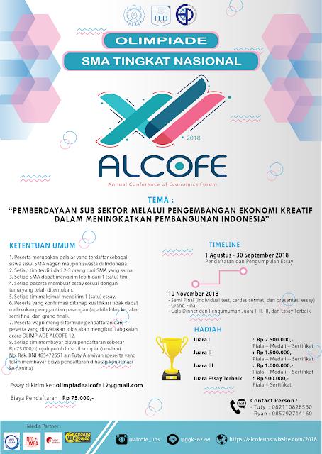 Olimpiade Ekonomi ALCOFE XII SMA Sederajat Tingkat Nasional