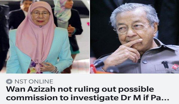 PRU14: Wan Azizah tidak tolak kemungkinan tubuh suruhanjaya menyiasat Mahathir jika Pakatan menang #SinsOfMahathir #DosaMahathir