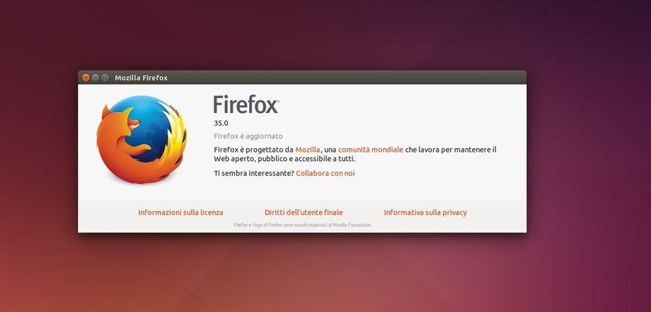 Firefox 35 in Ubuntu