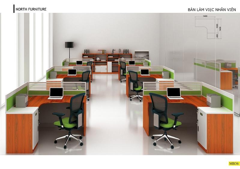 Thiết kế thi công nội thất văn phòng trọn gói có tính đồng bộ cao