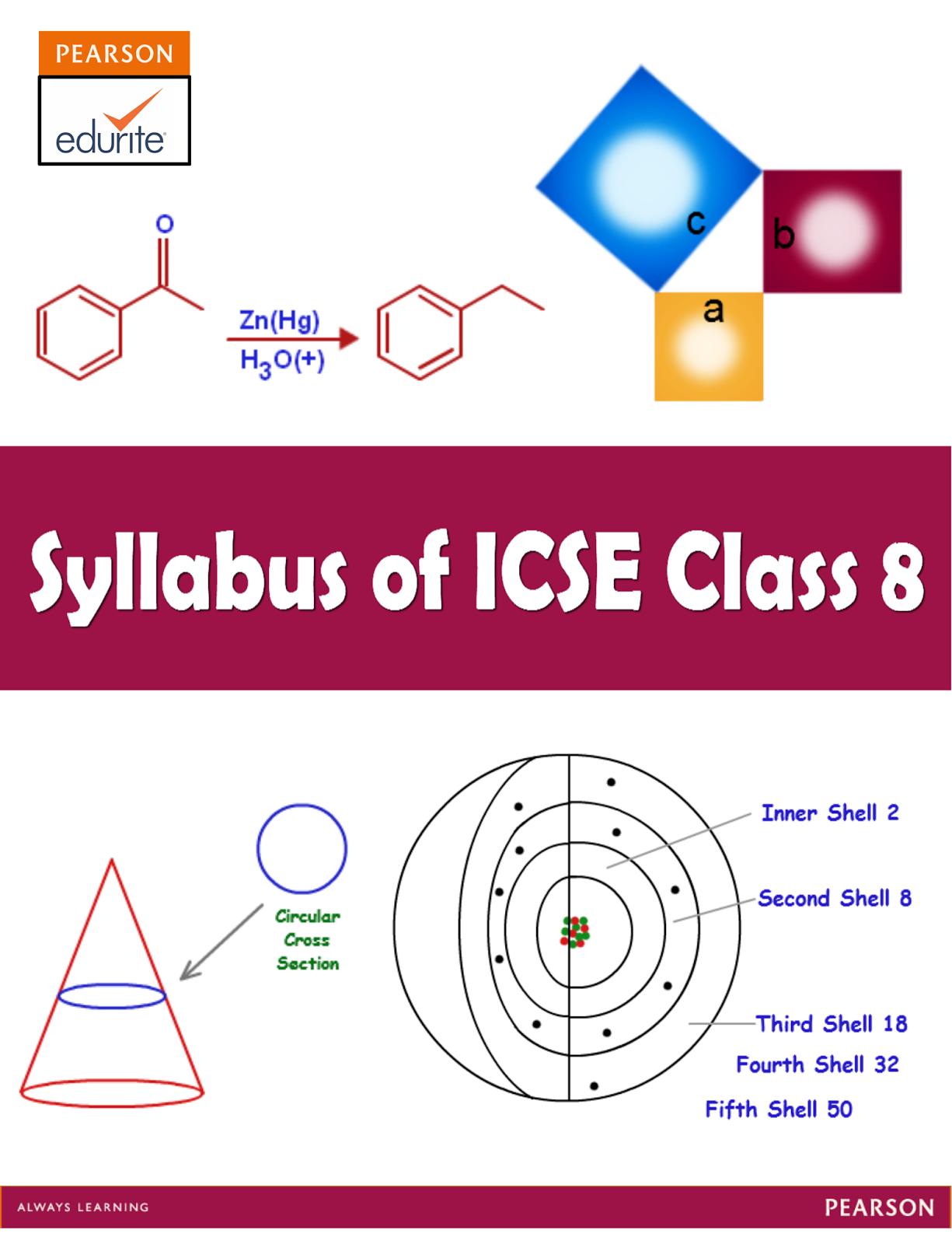 Icse Board Icse Syllabus For Class 8 Maths