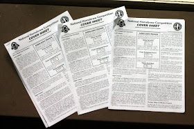 My three good NHC 2012 score sheets.