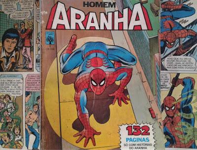 As revistinhas do Homem Aranha ainda estão guardadas numa caixa de papelão.