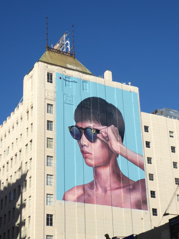 Giant Snapchat Spectacles billboard Hollywood