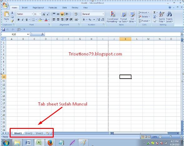 Cara Menampilkan Tab Sheet ( 1, 2, 3 dst) pada Excel 2007 ...