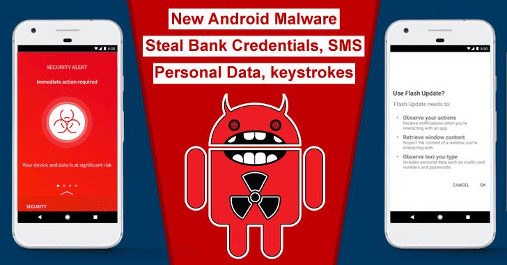 """Novo Malware para Android """"EventBot"""" Rouba Contas Bancárias, SMS, Coleta Dados Pessoais, Teclas"""