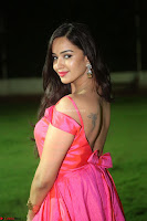 Actress Pujita Ponnada in beautiful red dress at Darshakudu music launch ~ Celebrities Galleries 073.JPG