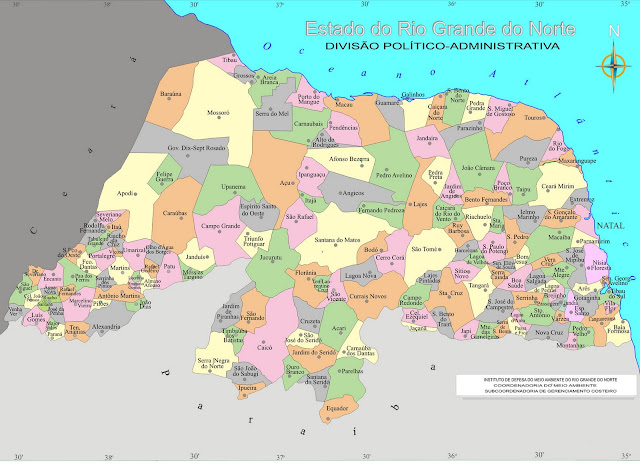 Mapas do Rio Grande do Norte | MapasBlog