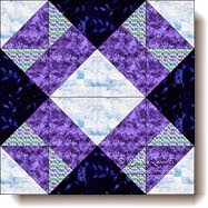 Aunt Nancy's Favourite quilt block (c) W. Russell
