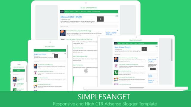 Simplesanget Blogger template High CTR adsense