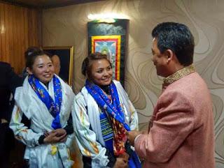 Darjeeling Everester girls Trishala Gurung and Sulaxchana Tamang