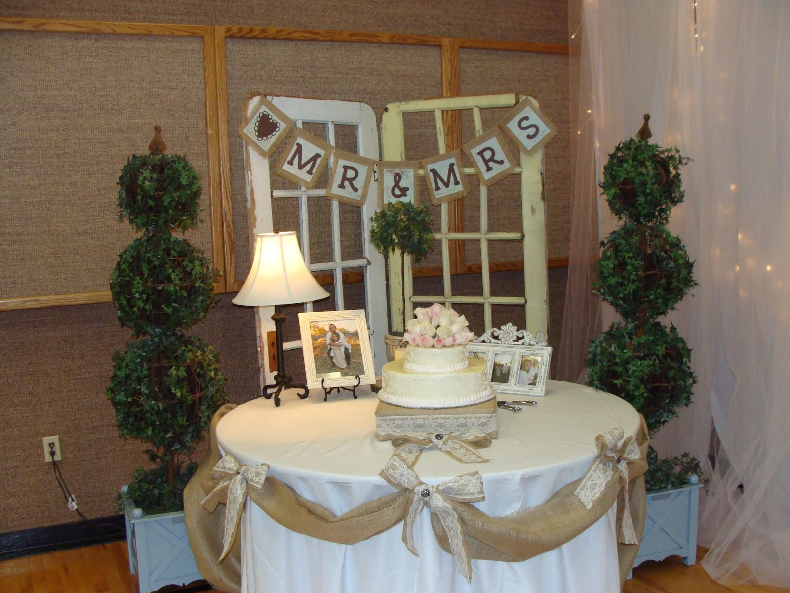 Strong Armor Burlap And Lace Wedding
