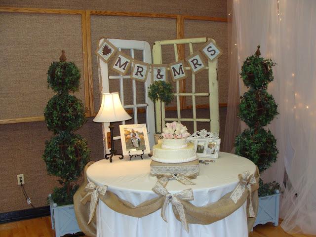 Southern Blue Celebrations Burlap And Lace Wedding Decor