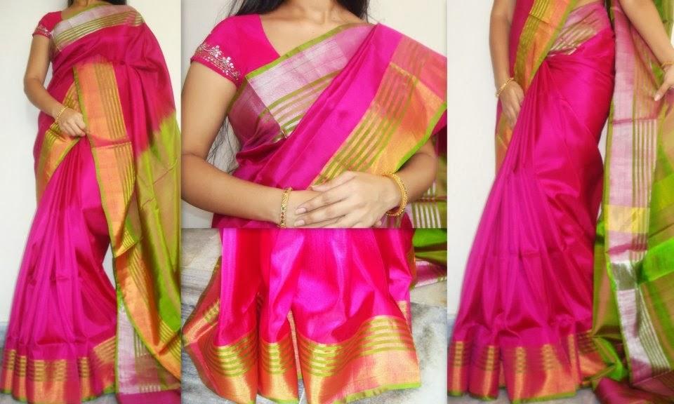 Sparkling Fashion Uppada Pattu Silk Sarees