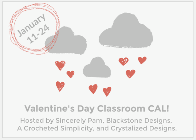 crochet along for classroom valentines