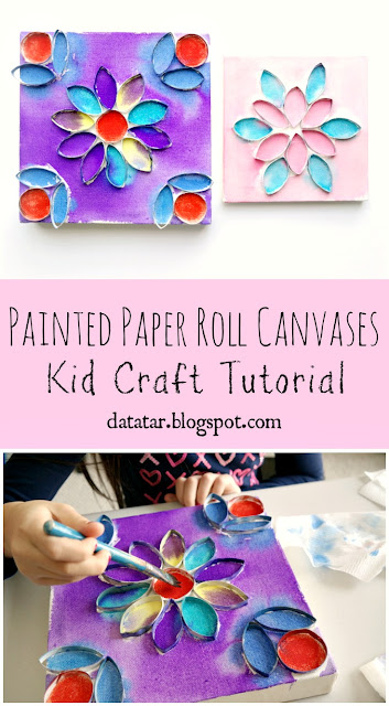 Painted Paper Roll Canvases Kid Craft Tutorial by Dana Tatar for Canvas Corp Brands