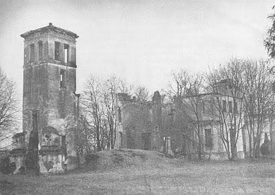 Дворец в Наднемане Наркевичей-Иодко, фото 1980 года