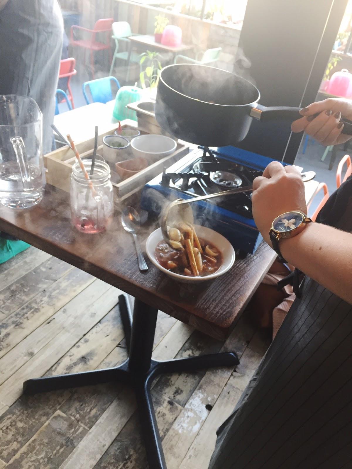 Tom yum soup at Thaikhun southampton