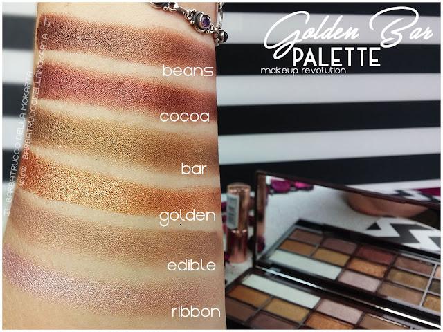 golden Bar makeup revolution palette choccolate swatches 2