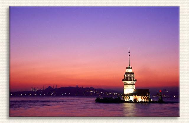 Mustafa Yılmaz Kız Kulesinde Akşam tablosu