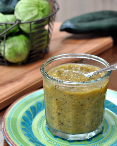 Green Chile Sauce for Green Chile Burgers ♥ KitchenParade.com. Vegan. Gorgeous. Low Carb. WW2.