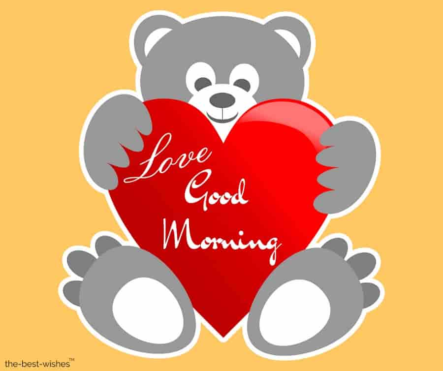 good morning love teddy bear pictures