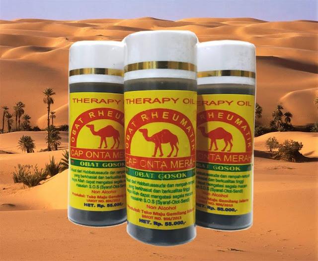 Obat Gosok Cap Onta Merah Therapy Oil Rheumatik