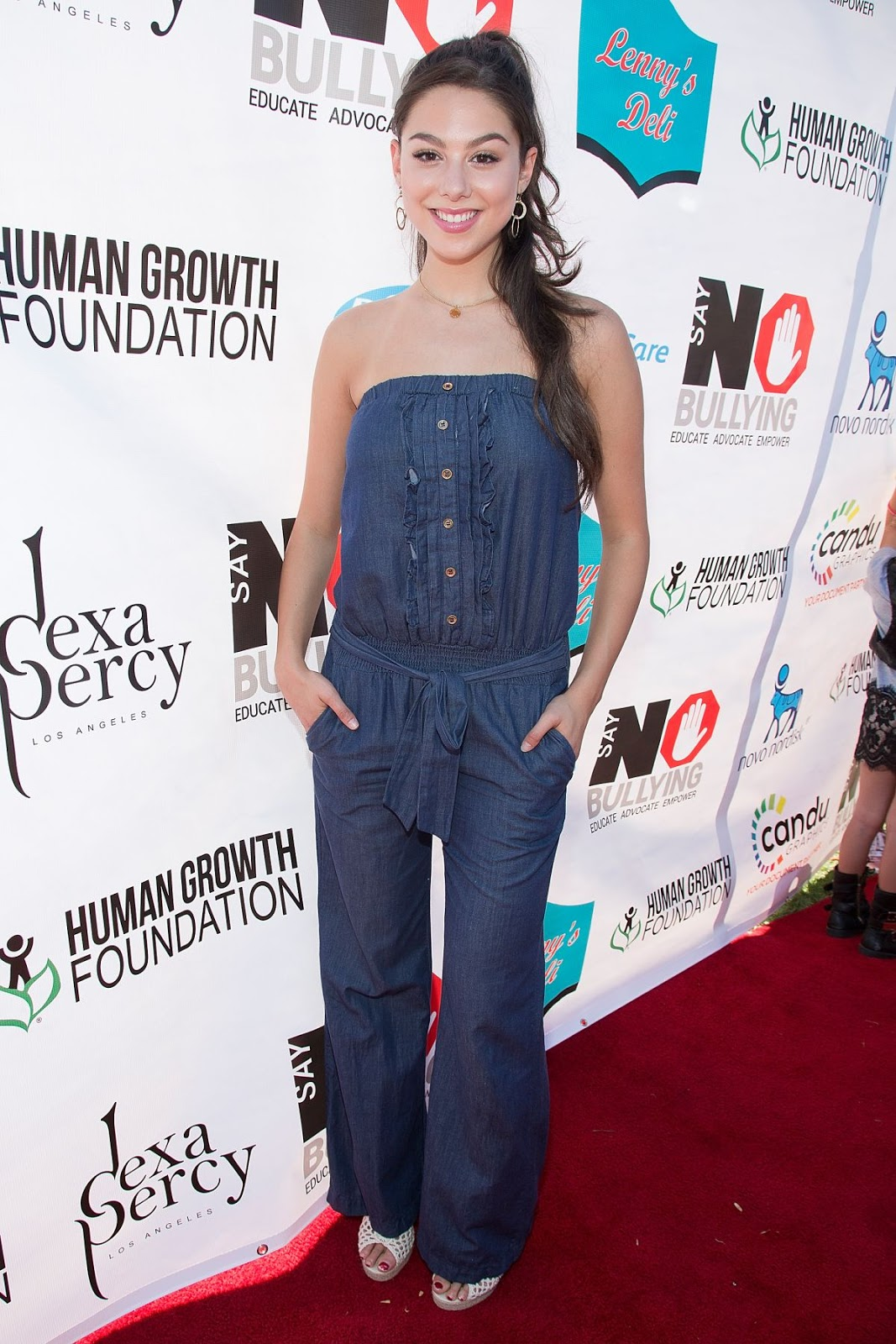 School of Rock actress Kira Kosarin at Say No Bullying Festival at Griffith Park