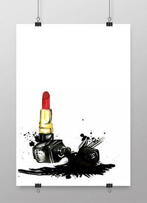konsttryck, smink, make up, poster, posters, tavla, tavlor, annelies design, erbjudande, veckans erbjudande, webbutik, webbutiker, webshop, inredning,
