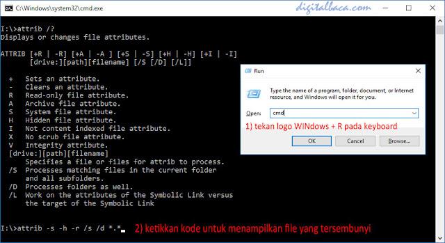 Cara Mudah Mengembalikan Data Tersembunyi di FlashDisk Akibat Serangan Virus