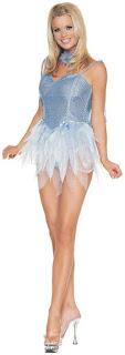 Blue Glitter Costume