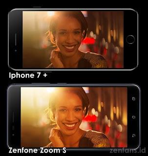 perbandingan aperture Zenfone zoom s dan iphone 7+