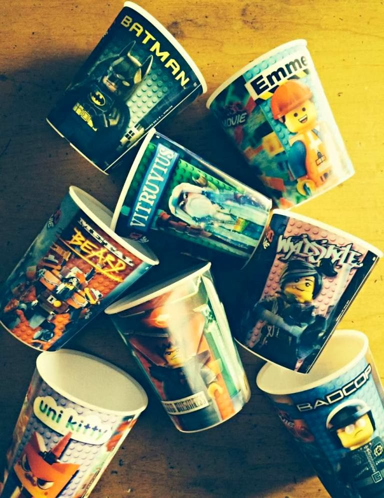 McDonald's Happy Meal The LEGO Movie Challenge cups