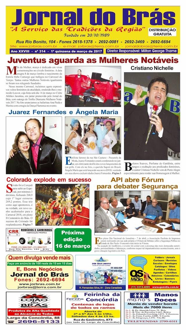 Destaques da Ed. 314 - Jornal do Brás