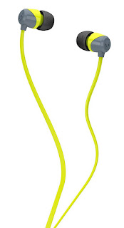 Skullcandy SCS2DUFZ-385 Jib In-Ear Headphone without mic (Lime-Gray)