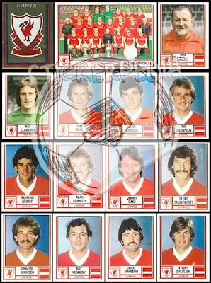 Panini Football 81 stickers england liverpool