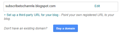Add Domain in Google blog