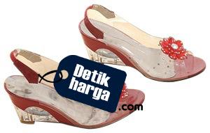 Women's Shoes Sandal Heels Transparent flower Wedge