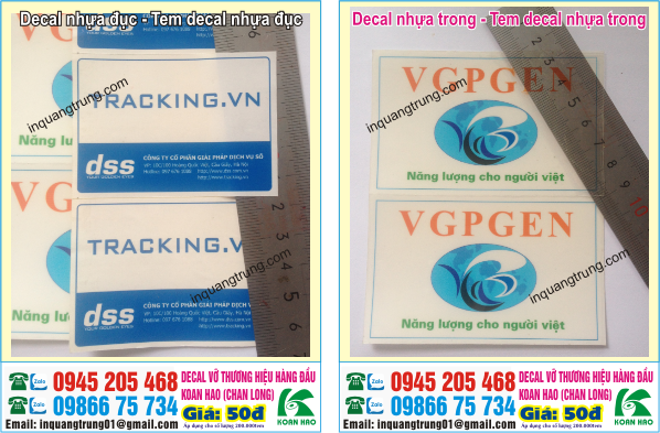In decal pp, in decal nhựa trong, in decal nhựa đục