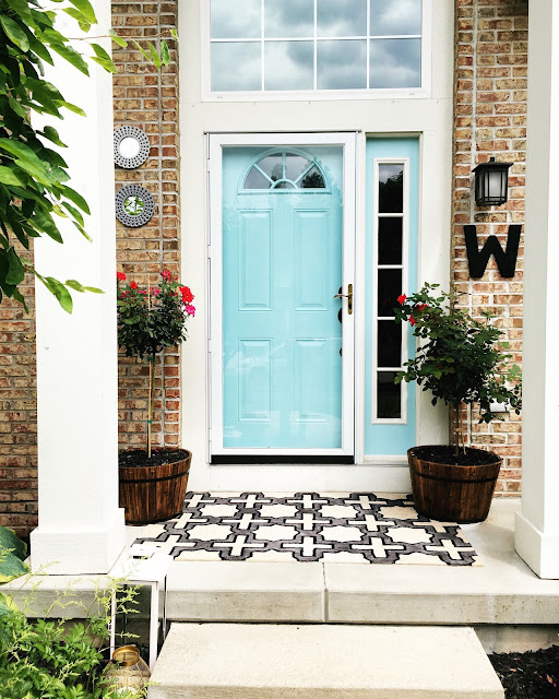 how to prime and paint the front door without sanding using Sherwin Williams Cay