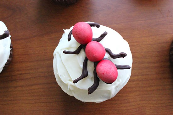 Chocolate M&M Ant Cupcake Deocrating Inspiration