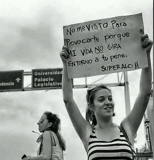 Mensajes de mujeres hacia los acosadores